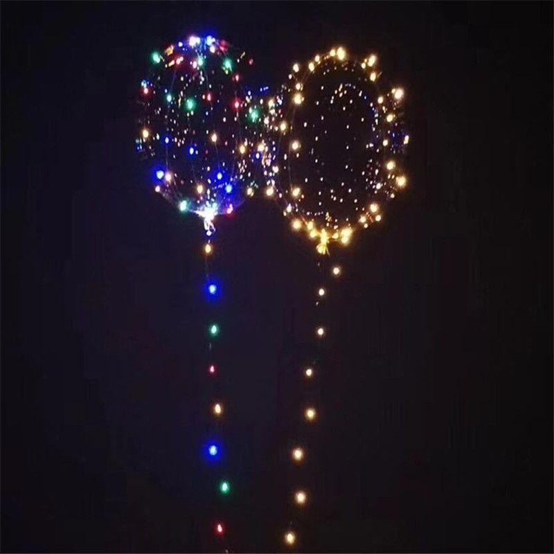 موجة جديدة الكرة بوبو خط أدى ضوء بالون سلسلة مع بطارية لعيد الميلاد هالوين حفل زفاف المنزل الديكور التعميم