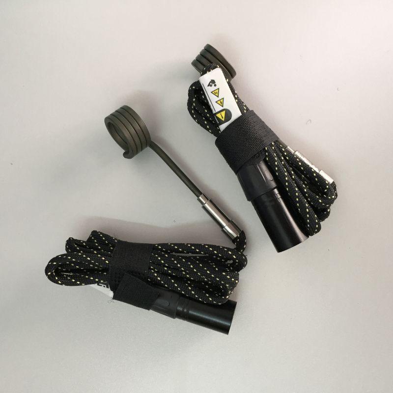 Yüksek kaliteli e-tırnak Bobin Isıtıcı 16mm 20mm 110V 100W 240V ENail Sistemleri DIY K Tipi termokulplu 5 Pin XLR Erkek Tak Bobin Isıtıcı