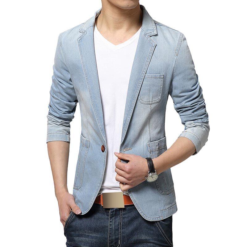 2018 new fashion men blazer trend jeans suits men 39 s casual. Black Bedroom Furniture Sets. Home Design Ideas