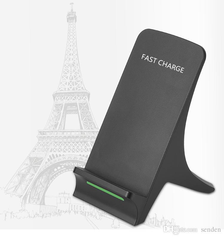 Eiffelturm Schnell Wireless Charging 2 Spulen Qi Lade Dock Telefon Stand Q550 Induktive Wireless Charger Sender Halter für QI Smartphones