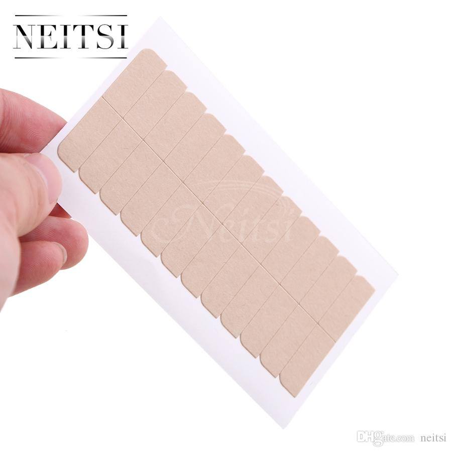 2018 Neitsi Waterproof 5sheets 60tabs Hair Extensions Double Sided