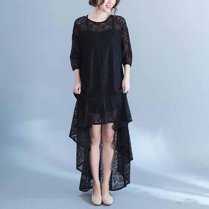 2018 New Spring Krean Plus Size Dress Fat Womens Show Thin Fashion