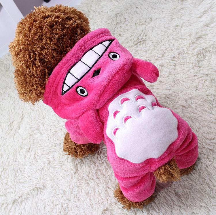 Calda molle dell'animale domestico vestiti del cane del cappotto costume del panno morbido vestiti i cani cucciolo di inverno del fumetto con cappuccio Autunno Abbigliamento XS-XXL