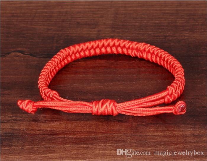 Charms Glücks Rote Schnur des Schicksals Seil-Armbänder Freundschaft-Armband-Art und Weise handgemachte Cord Glück Kabbalah Armband Schmuck Geschenk