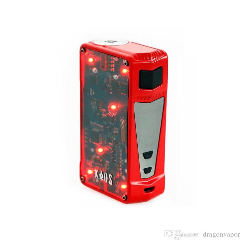 Authentic Sigelei Spectrum Kaos Z 200W Mod Upgraded LED Light Box Mod E Cigarette Vape Mod 100% Original