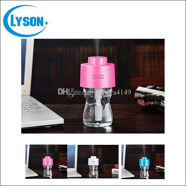 Version 2 Bottle Cap USB Mini Humidifier DC 5V Office Cool Mist Diffuser Mist Maker Include Water Bottle