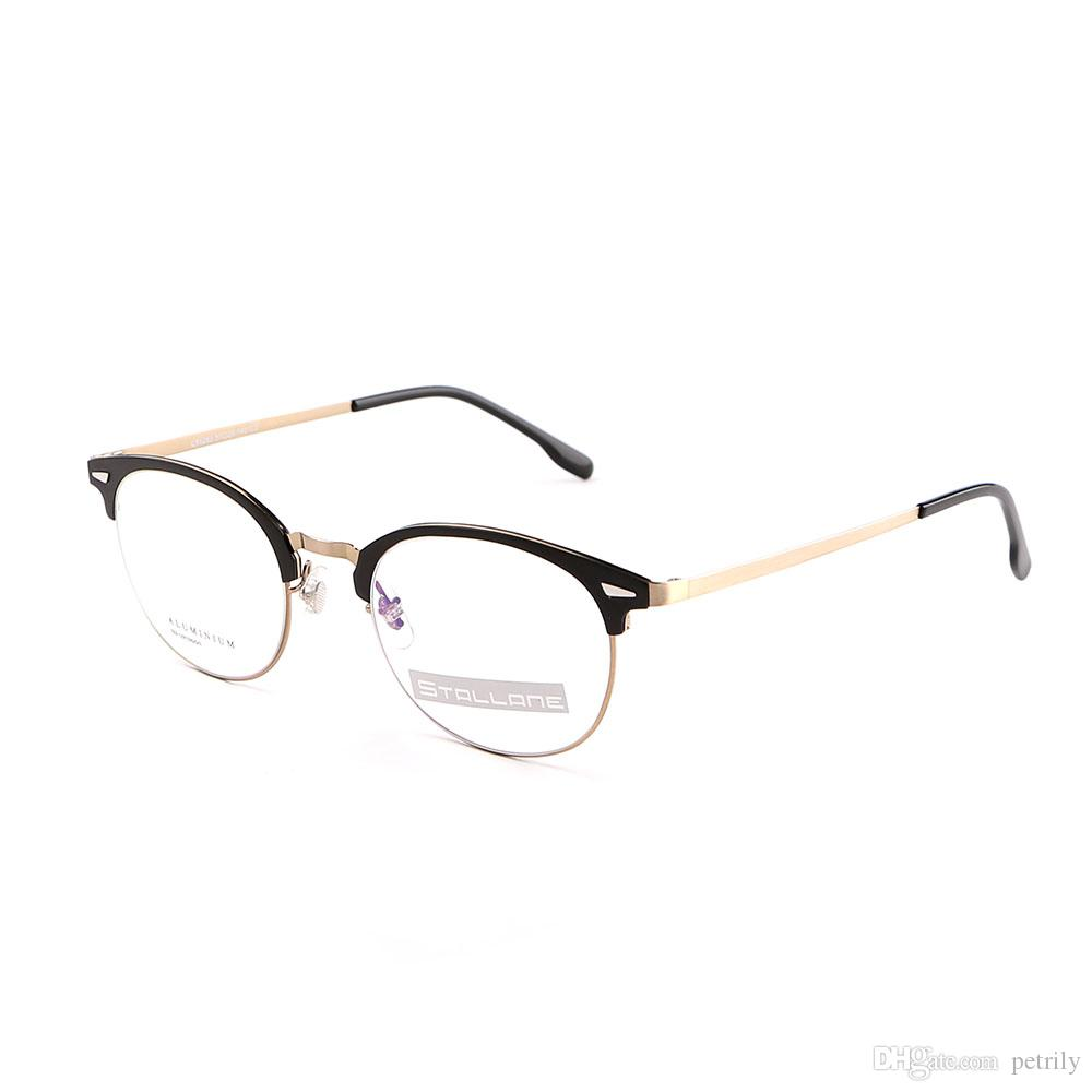 Stallane New Black Optical Retro Glasses Frame Business Round Rim ...