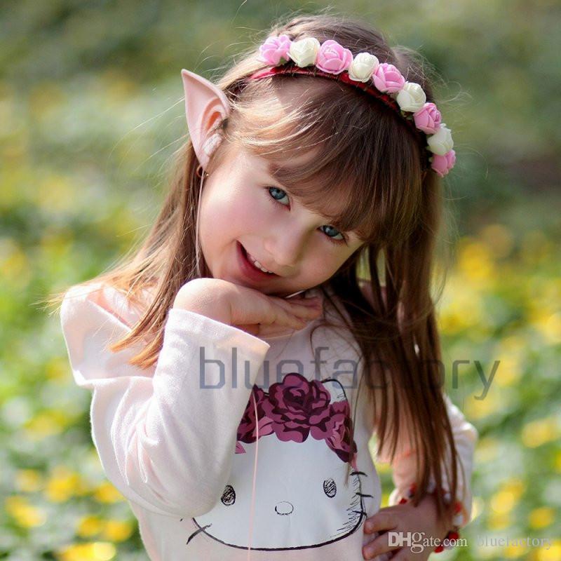 3.5mm Fairy HIFI Earphone With Microphone Cosplay Spirit Elf Ears Earphone For Smartphone MP3 MP4 iPhone Samsung Universal
