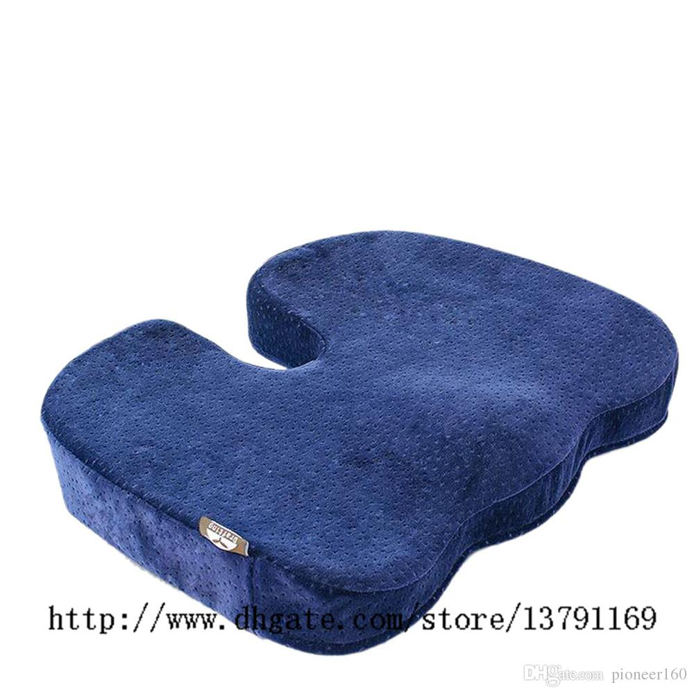 Ultra Comfort Memory Foam Coccyx Orthopedic Chair Seat Cushion Pad Backache  Pain Home Office Bottom Seats Massage Cushion Royal Blue Replacement Patio  Chair ...