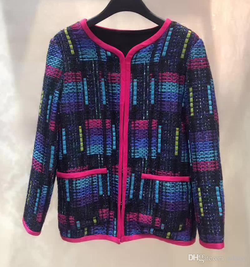 Ladies Tweed Jackets Coat 2017 Luxury Brand Jacket Women Colorful ...