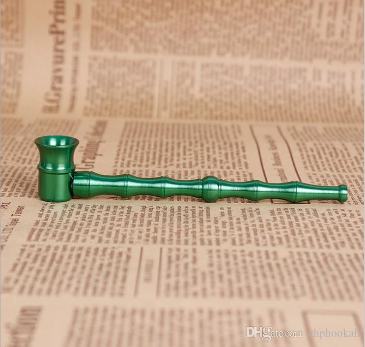 Металлический прямой полюс мини-маленькая труба дамы посвященный бамбук портативный фильтр держатель сигареты классический длинный держатель сигареты