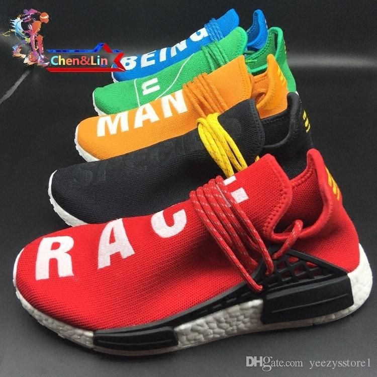 59dd61408 2019 2017 New NMD HumanRace Pharrell Williams X NMD Sports Running Shoes
