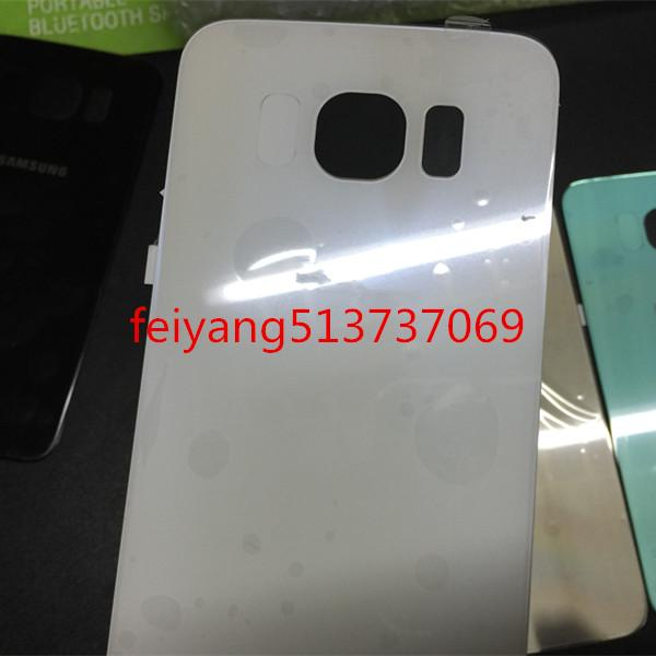 Original A quality back cover glass Battery Door Back Cover Housing + Adhesive Sticker For Samsung Galaxy S6 g920