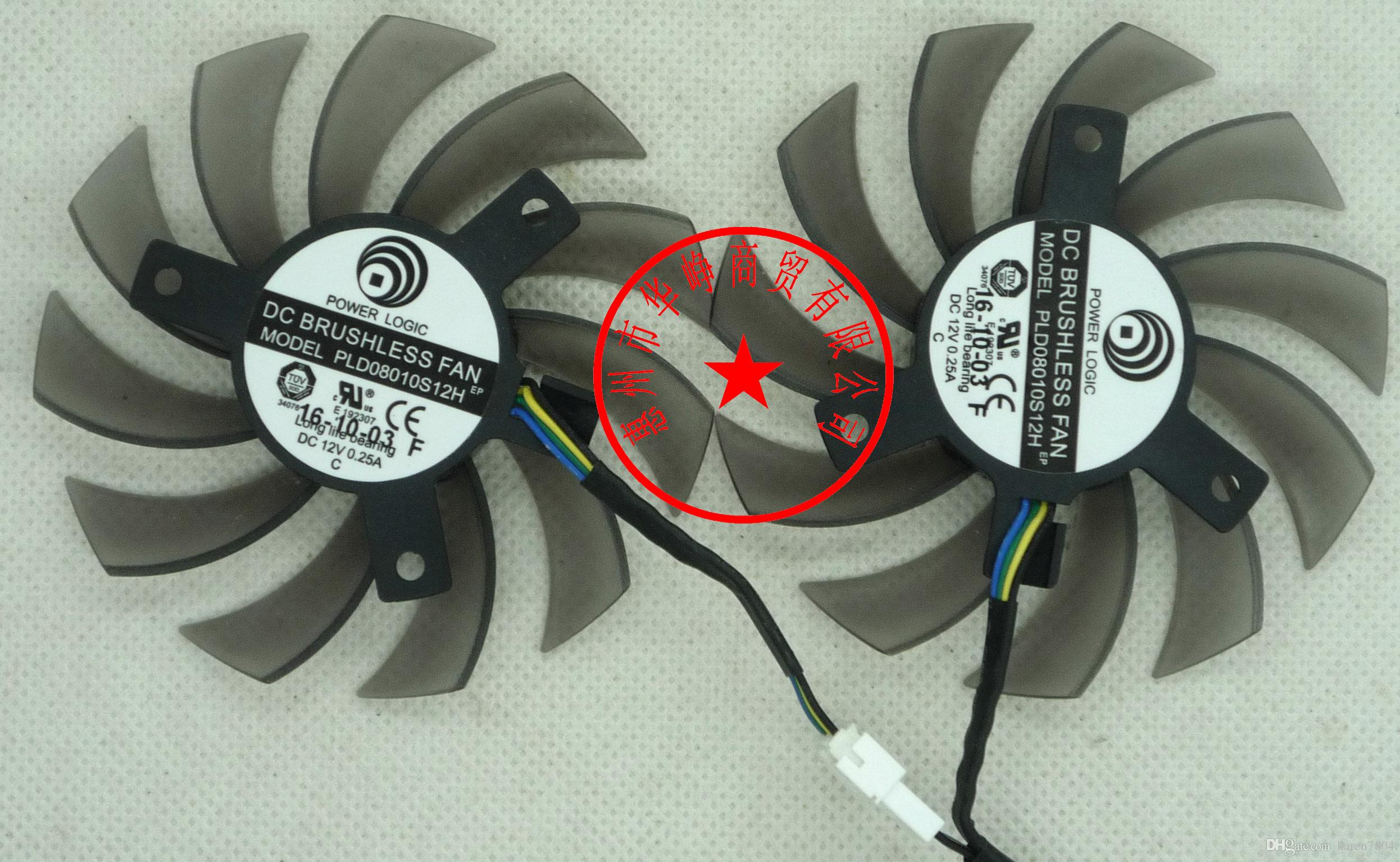 MSI 460GTX 560GTX 570GTX 580GTX R6790 R6870 R6850HAWK PLD08010S12HH PLD08010S12H ventilador de la tarjeta gráfica