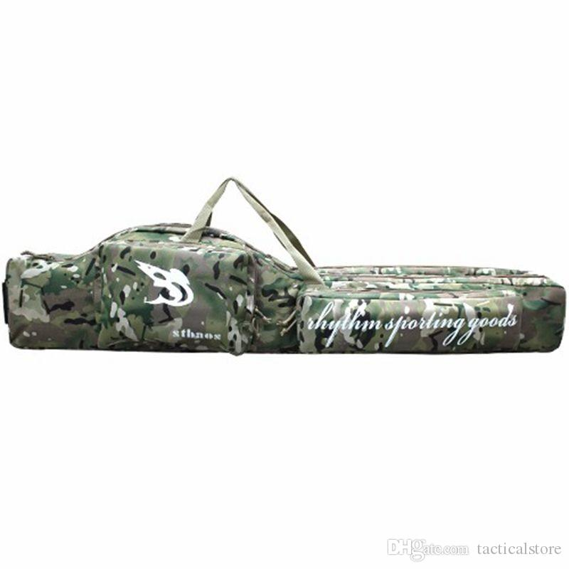 47inch Tactical hunting carry hand case 1.2m long rifle gun slip double for hunting backpack bag Multicam CP