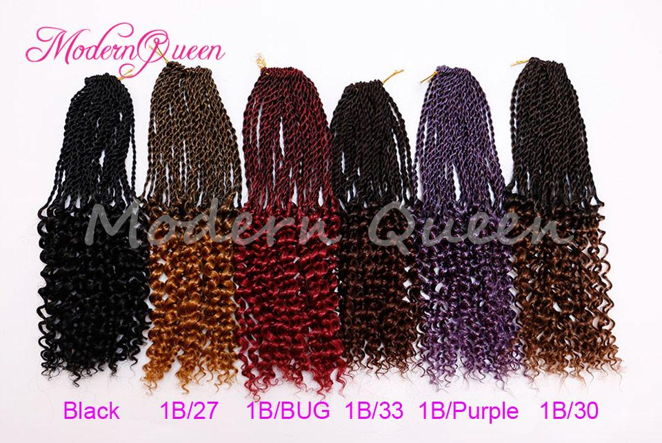 Wholesale Cheap 16 Inch 80g Kanekalon High Pre-Twisted Flashy Curl Synthetic Braiding Hair Extension Ombre Senegalese Twist Crochet Hair