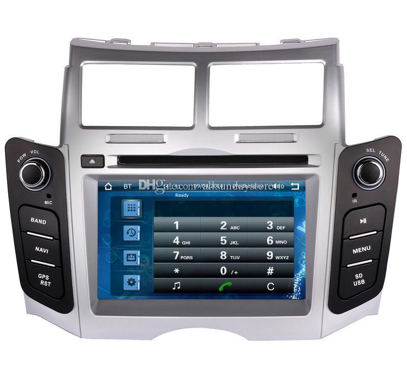 Leitor de DVD Carro para Toyota Yaris 2005-2011 com Navegação GPS Rádio TV Bluetooth USB SD Mapa AUX Auto Audio Video Stereo Sat Nav