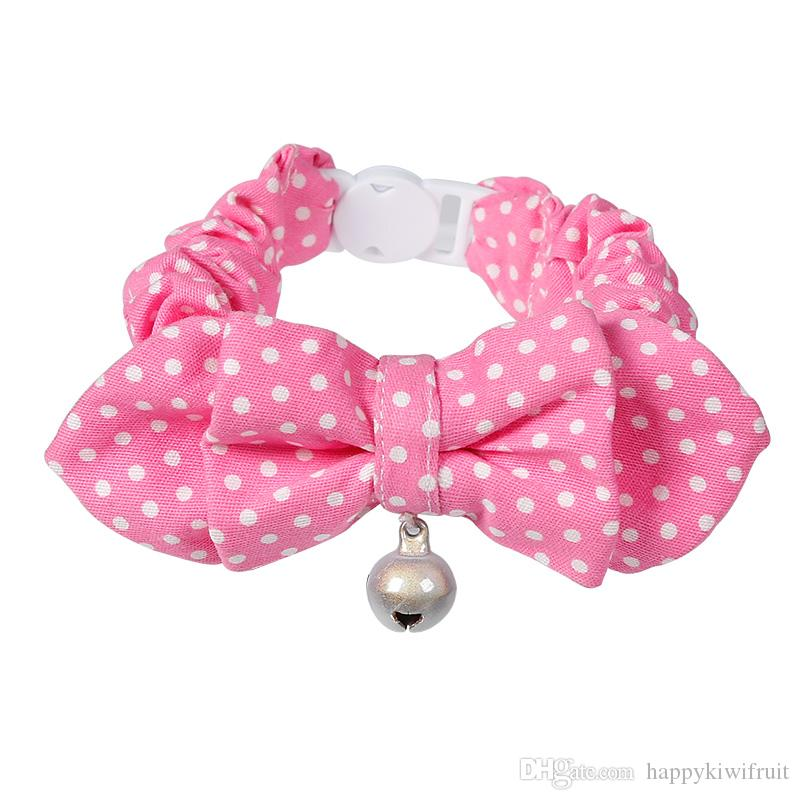 Designer Adjustable Breakaway Kitten Cat Collar with Bowtie Reflective Bell Cats Dogs Tie Wedding Christmas Accessories Dogs Bowtie Collar