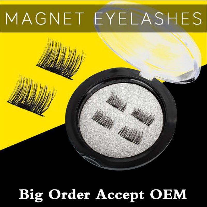 1-3 Magnets Eyelashes Hand Made Fake Eyelashes False Eyelashes Extension Natural Soft Thin Makeup Easy To Wear Soft