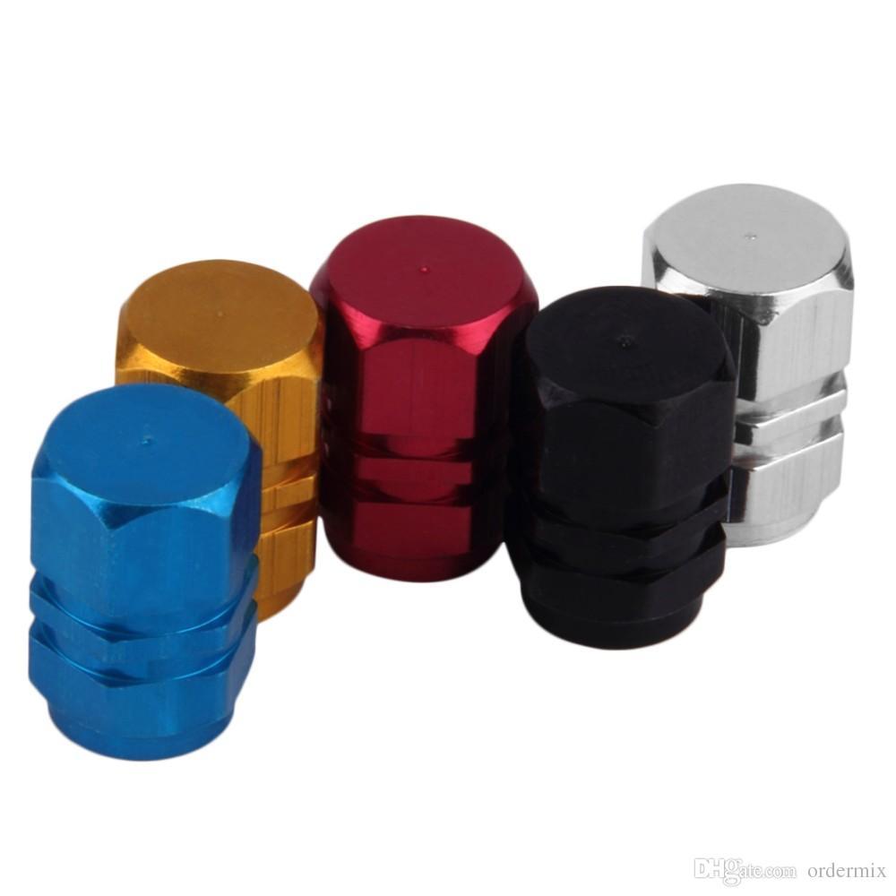 / 팩 Theftproof 알루미늄 자동차 휠 타이어 밸브 타이어 스템 공기 캡 기밀 커버 실버 컬러