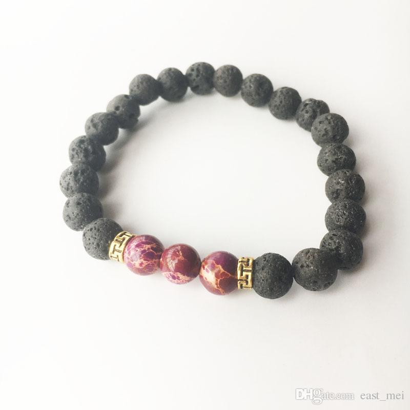 Brand new Natural stone volcanic stone emperor stone turquoise bracelet FB255 a Charm Bracelets