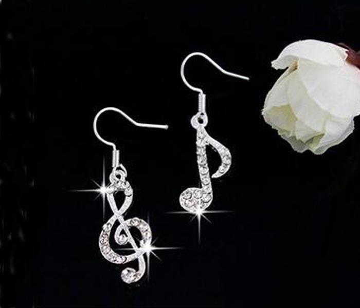 New Summer Music Drop Earrings Fashion Crystal Dangle Earrings Jewelry Accessories for Women Gift