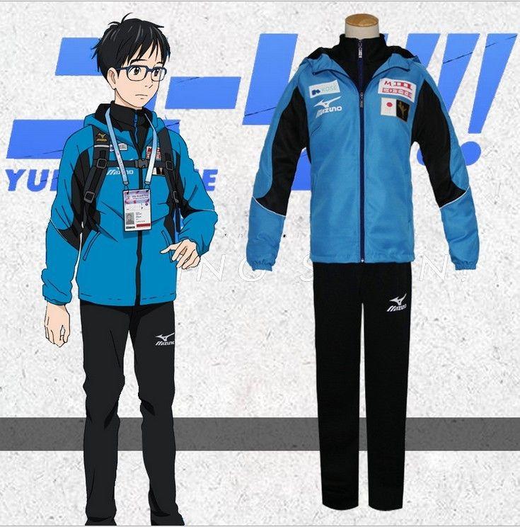 Kukucos Anime Yuri On Ice Katsuki Yuri Cosplay Costume Men Sport
