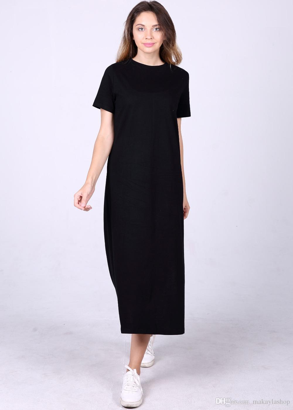 Casual Loose T Shirt Dress Summer Style Women Clothing High Split Straight  Midi Tunic Sarafan Beach Robe Day Dresses Dresses For Sale From  Makaylashop e28b20e036