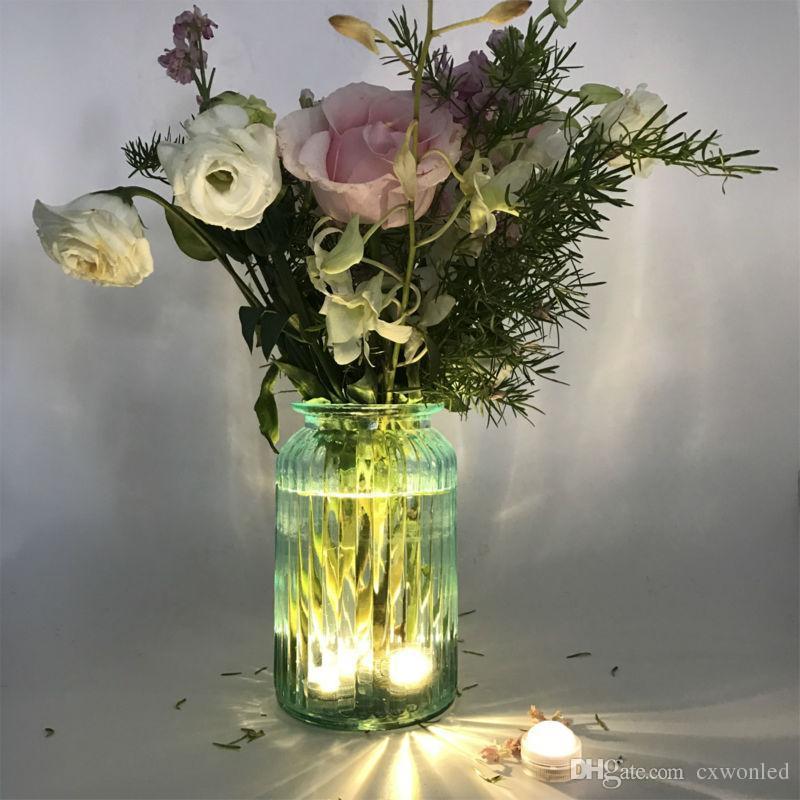Led Tealight Changement de Couleur Étanche Bougie Lumière Aquarium Submersible Fish Tank Bar Vase Lumière Avec Télécommande
