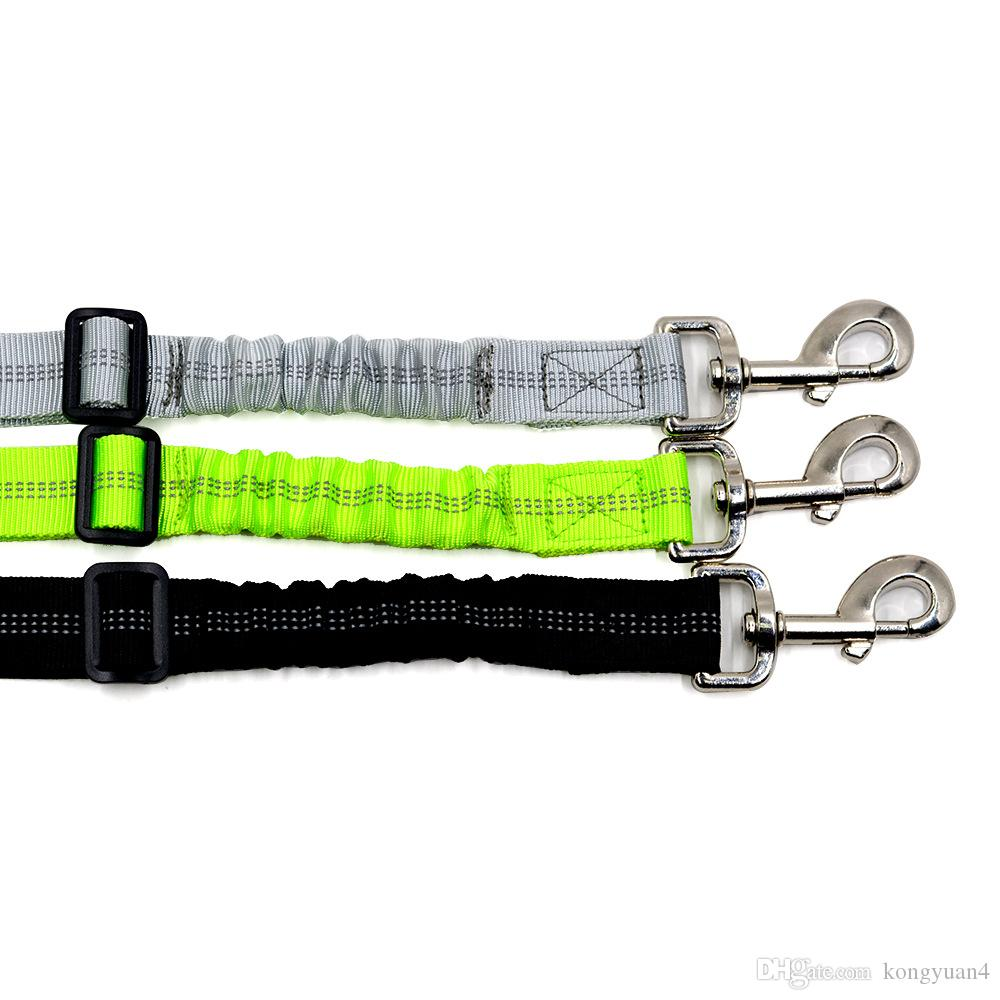 Adjustable Pet Dog Car Seat Belt Safety Leads Vehicle Seatbelt Harness, with Elastic Bungee Buffer,Reflective Stitching, Hassle-free Univer