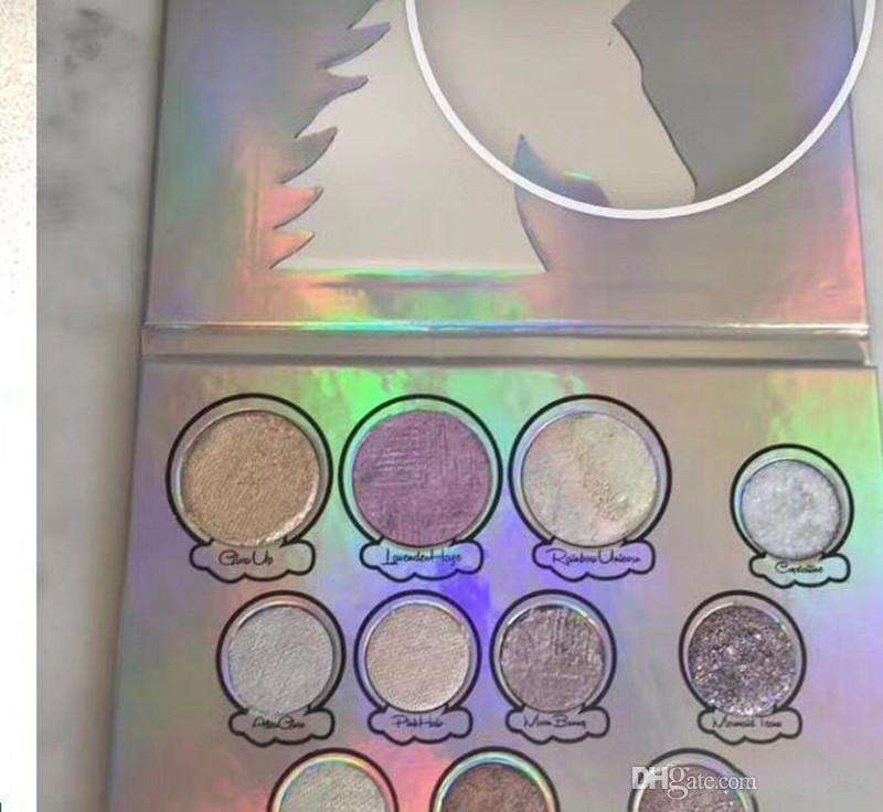 New Hot Unicon Glitter Eyes Eyeshadow Palette 11 Colors Makeup Eye Shadow Palette Glitter DHL shipping