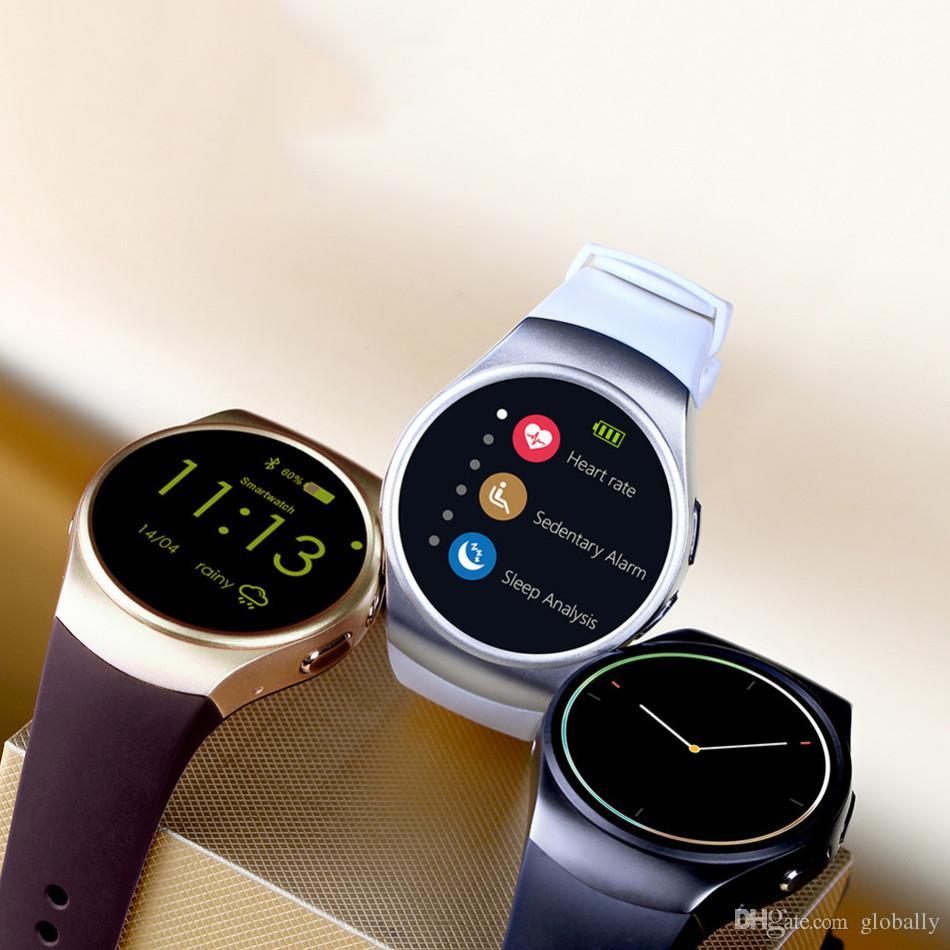 KW18 Bluetooh Smart Watch Монитор сердечного ритма Поддержка SIM-карты TF SmartWatch для iPhone Samsung Huawei Gear S2 Android SmartWatch бесплатно Shipp