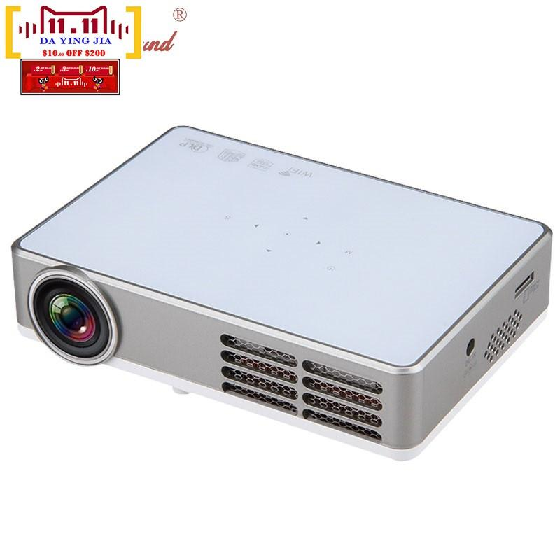 f4222906267d6e 2019 Wholesale Real 3D LED9 Android 4.4 DLP Projector Wireless Wifi Mini  Projector Full 3D HD Proyector Home Theater 1200*800pixels 3000Lumens From  Bdphone, ...
