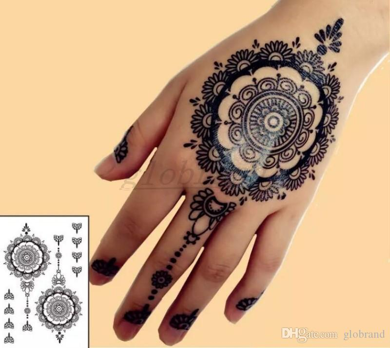 Henna Tattoo Permanent: NEW #BH 12 Black Henna Temporary Tattoo For Hands Inspired