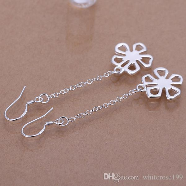 Commercio all'ingrosso - prezzo più basso regalo di Natale 925 Sterling Silver Fashion Necklace + Orecchini set S235