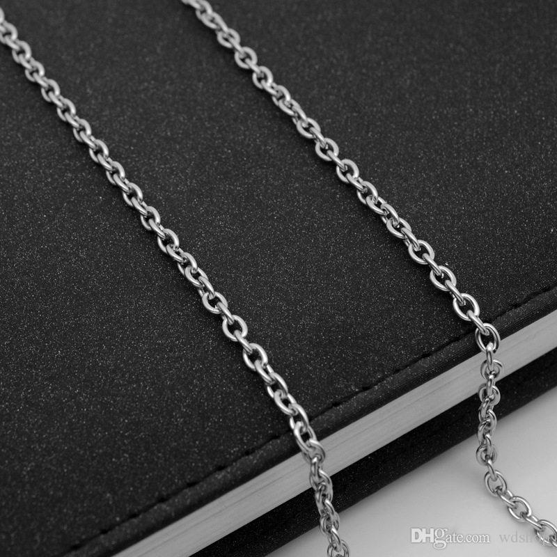3mm En Acier Inoxydable Collier Chaînes En Vrac Fit Bracelets Résultats En Gros Argent Couleur Lien Chaîne Pour Fabrication de Bijoux