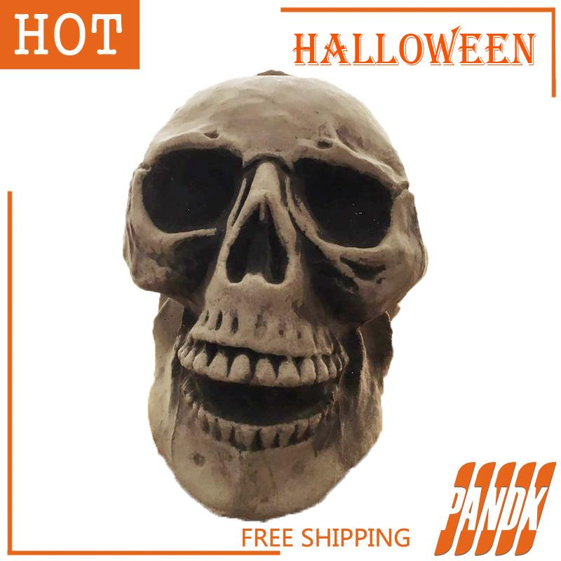 2017 wholesale big halloween skull props scary halloween props skull party halloween decorations bar from sportsoutdoor 2918 dhgatecom - Halloween Skull Decorations