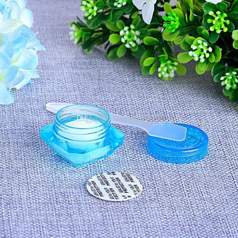3g & 5g colored diamond shape empty cosmetic containers with screw cap sample containers jar skin care cosmetic cream jars pot tins