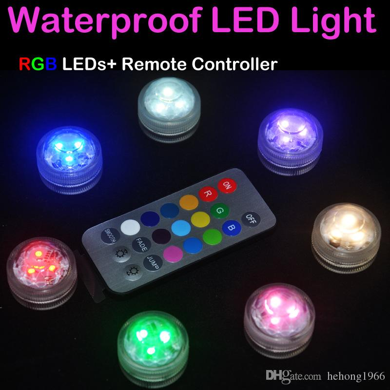 Luminescence Circular Candle Light LED Small Scale Replaceable Battery Remote Control Colorful Diving Lamp Waterproof Hot Sell 4 2dd J1 R
