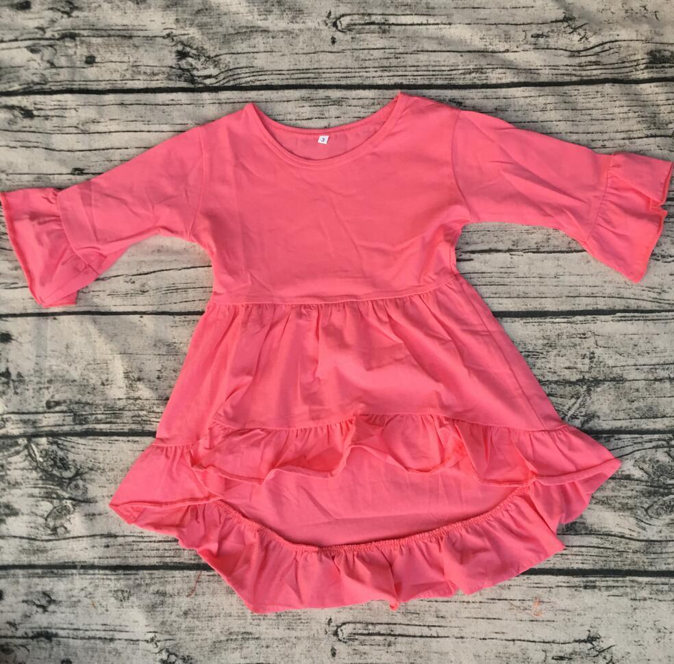 4e005e37d 2019 High Low Kid Dress Baby Boutique Cotton Long Sleeveless Tunic ...