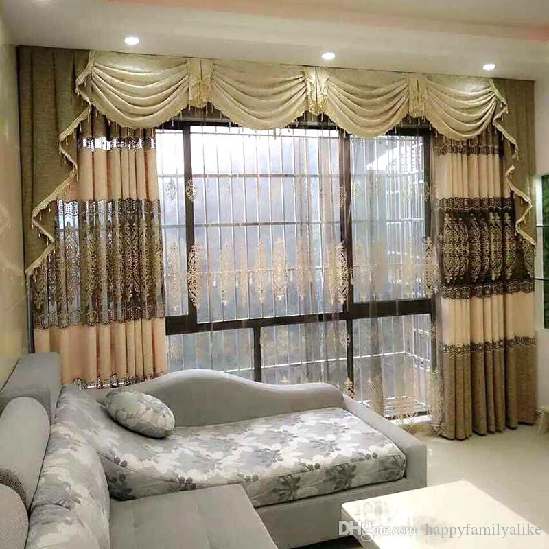 2019 european style curtain living room curtains bedroom - European style curtains for living room ...