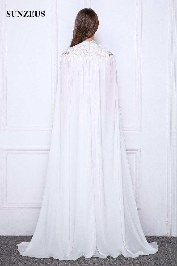 Großhandel Lange Weiße Abendkleider Lace High Neck ...