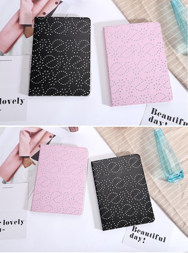 Estuches de almohadillas de estilo brillante para libros de cuero con diamantes para iPad Mini 2 3 4 Estilos ultradelgados de es Estuche para sobres 9.7 pulgadas Estuche protector para iPad Pro Air 2