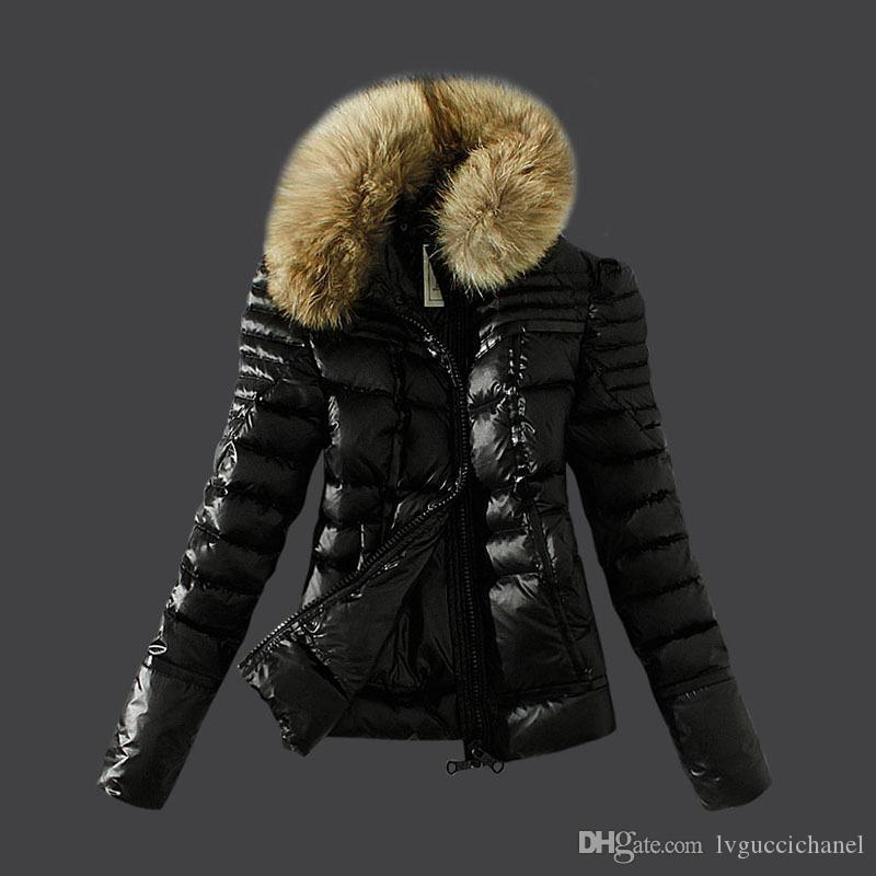 feinste Auswahl High Fashion bieten Rabatte Großhandel Winter Frauen Frankreich Marke Outdoor Weiße Ente Daunenjacke  Mäntel Damen Warm Slim Large Pelzkragen Daunenmantel Parkas Von ...