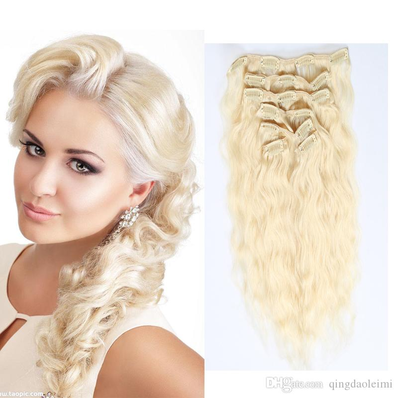 Clip In Hair Extensions Curly 100 Human Hair Color 1 118 4 613