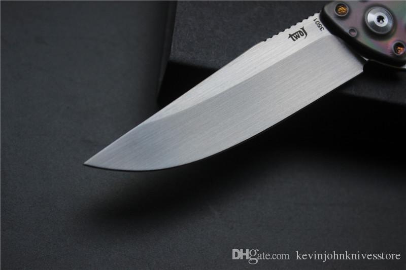 Couteau pliant TWOJ 3501 de haute qualité, Lame: S35VN satin, Manche: Couteau pliant ED4 pour camping en plein air