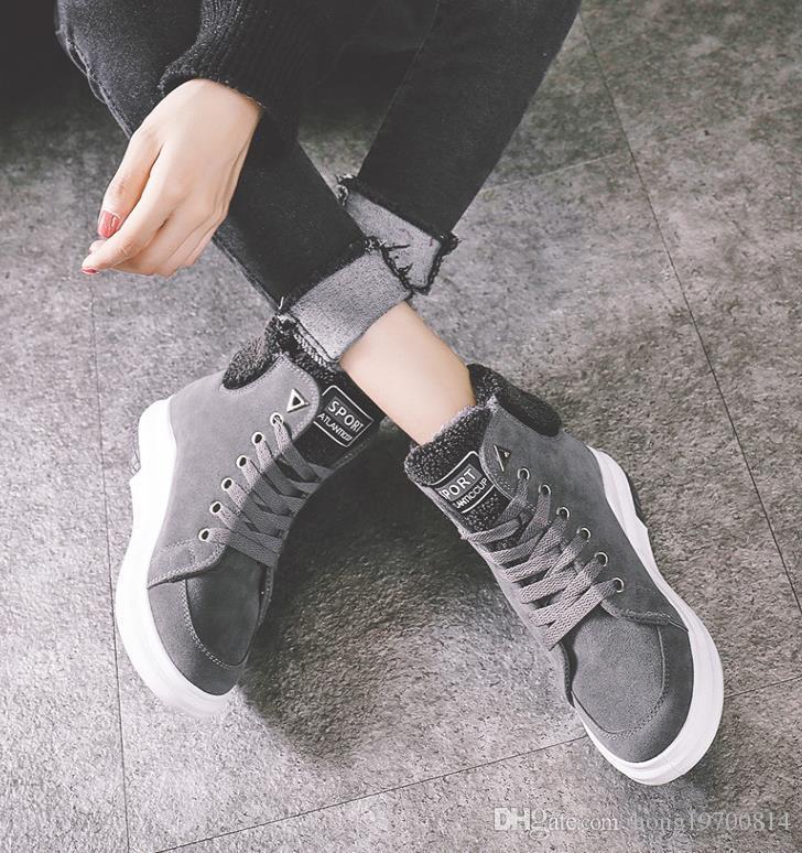 Der Winter 2017 Winter Nachahmung Wildleder Martin Stiefel Mode schwere Stiefel