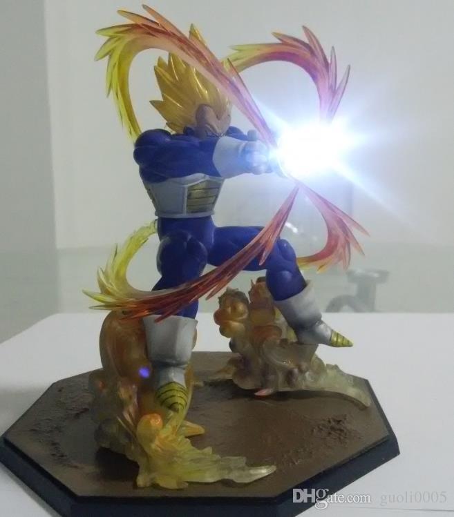 Led Light Ball Аниме Dragon Ball Z Super Saiyan Vegeta Battle State Финальная Вспышка ПВХ Фигурку Коллекционная Модель Игрушки 15 СМ с коробкой