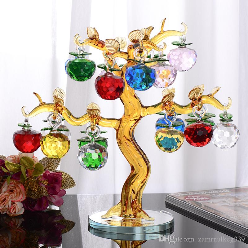 2018 Beautiful Popular Crystal Apple Tree New House Crafts Porch