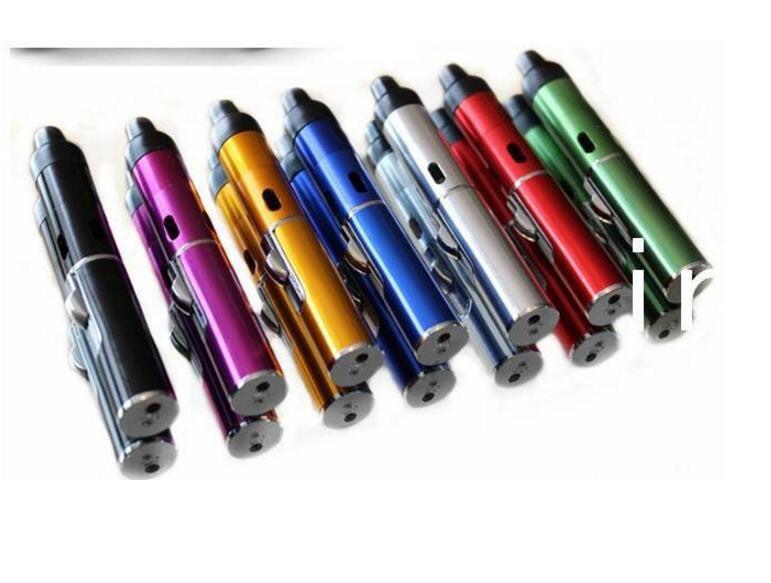 Click N Vape Mini Herbal Vaporizer Smoking Pipe Touch Flame Lighter Butane Smoke Torch Jet Flame Lighter